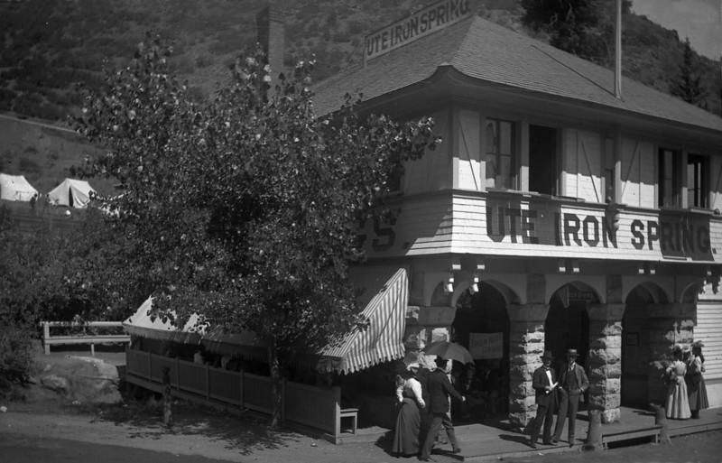 Ute Iron Springs, near Manitou Springs, Colorado,<br /> circa 1880s