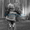 A child's loving embrace