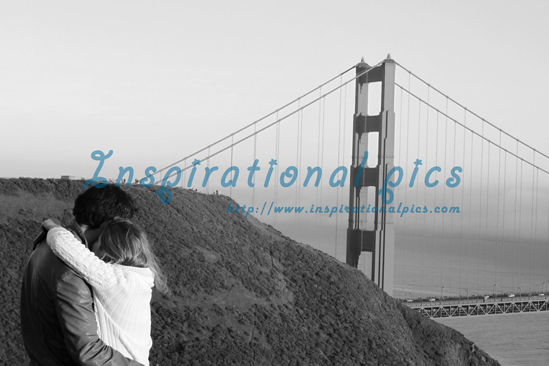 Romance at the Golden Gate Bridge San Francisco