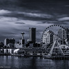 Sky Tower and Observation Wheel of Seattle