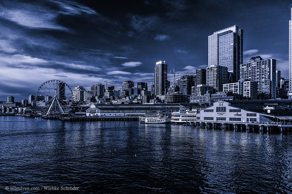 Skyline of Seattle from the Bainbridge ferry