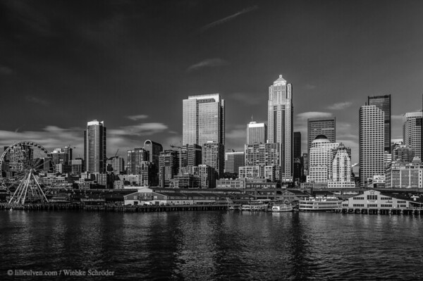 Seattle Skyline from the ferry to Bainbridge
