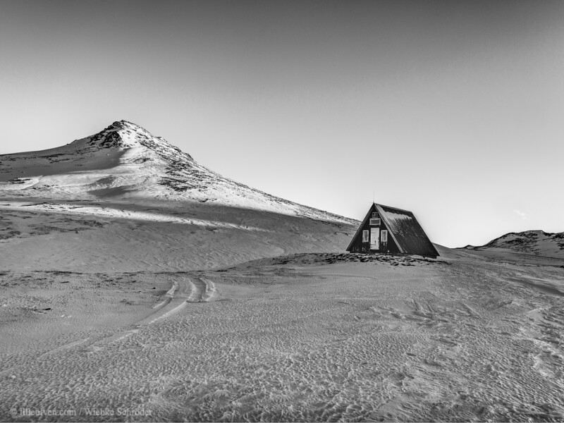 An emergency hut somewhere in the mountains of the Snæfellsnes Peninsula