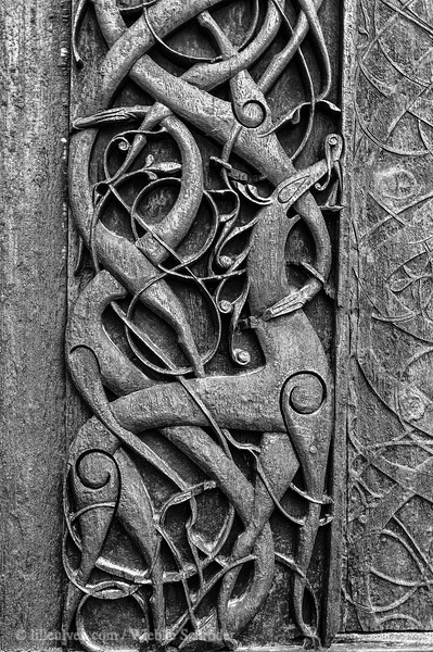 Urnes Stav Kirke - Northern Portal carving
