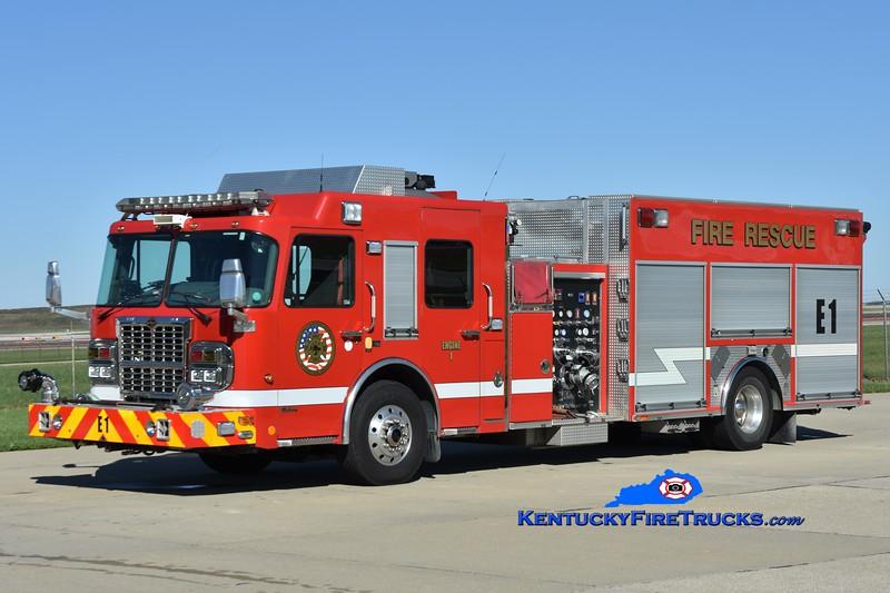 Cincinnati/Northern Kentucky International Airport Reserve Engine 1 <br /> x-Engine 974 <br /> 2009 Spartan Gladiator/Ferrara 1500/500/20/20<br /> Greg Stapleton photo