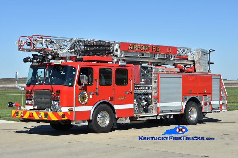 Cincinnati/Northern Kentucky International Airport Ladder 1<br /> x-Ladder 960 <br /> 2012 E-One Cyclone II 1500/500/78'<br /> Greg Stapleton photo