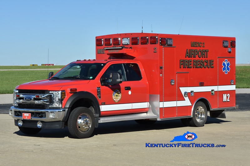 Cincinnati/Northern Kentucky International Airport Medic 2<br /> 2018 Ford F-550 4x4/Braun<br /> Greg Stapleton photo