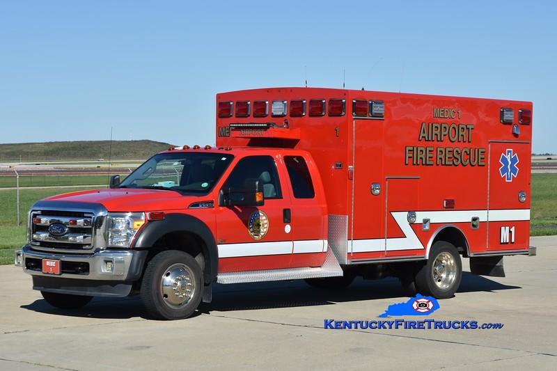 Cincinnati/Northern Kentucky International Airport Medic 1<br /> 2015 Ford F-550 4x4/Braun<br /> Greg Stapleton photo