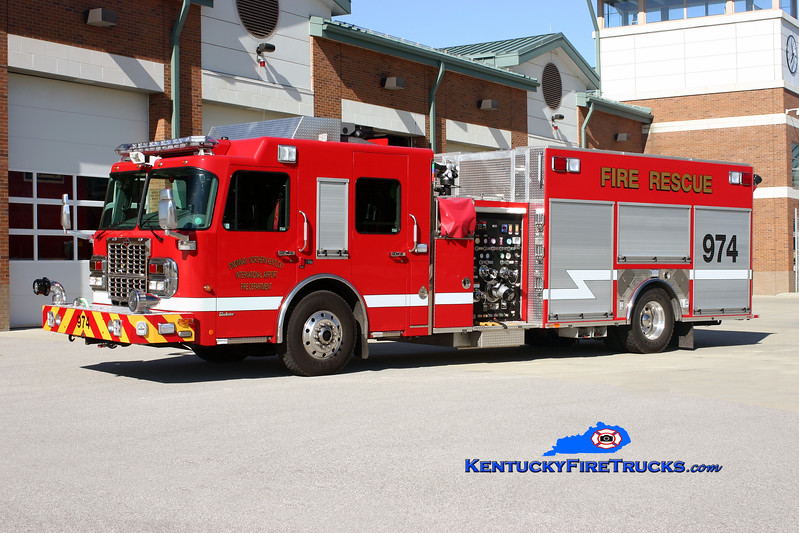 <center> Cincinnati/Northern Kentucky International Airport  Engine 974 <br> 2009 Spartan Gladiator/Ferrara 1500/500/20/20 <br> Kent Parrish photo </center>