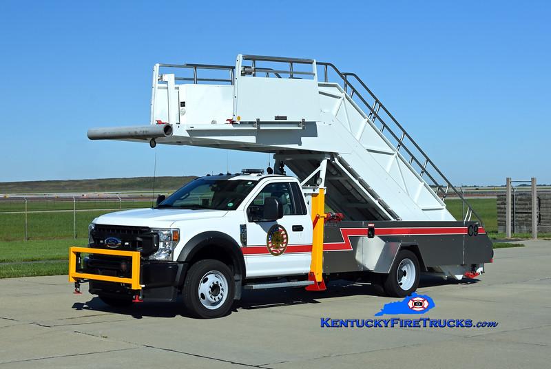 Cincinnati/Northern Kentucky International Airport Crash 9<br /> 2020 Ford F-450 4x4/Phoenix Metal Products Stair Evacuation Truck<br /> Kent Parrish photo