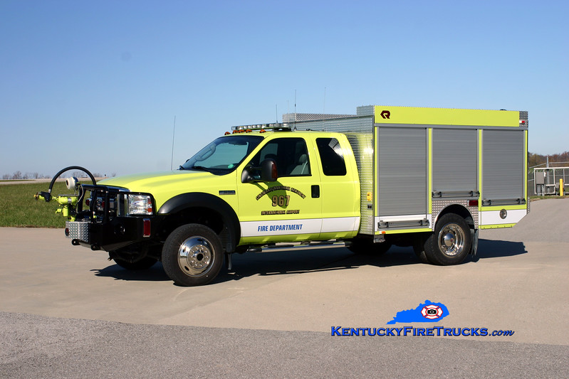 <center> Cincinnati/Northern Kentucky International Airport  Unit 967 <br> 2006 Ford F-550 4x4/Rosenbauer 500/300/40F/500PK <br> Kent Parrish photo </center>