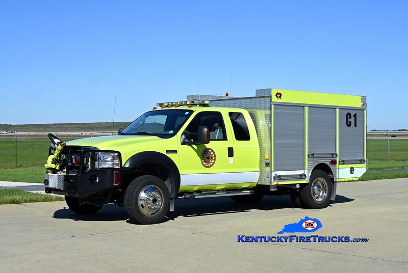 Cincinnati/Northern Kentucky International Airport Crash 1<br /> x-Crash 967<br /> 2006 Ford F-550 4x4/Rosenbauer 200/300/40F<br /> Kent Parrish photo