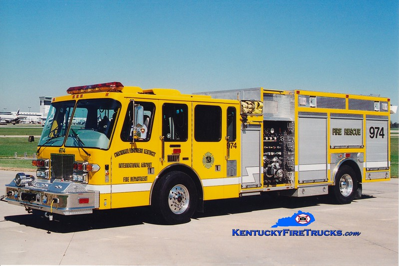 <center> RETIRED <br> Cincinnati/Northern Kentucky International Airport  Rescue 974<br> 1994 Simon-Duplex/Ferrara 1500/500 <br> Greg Stapleton photo </center>