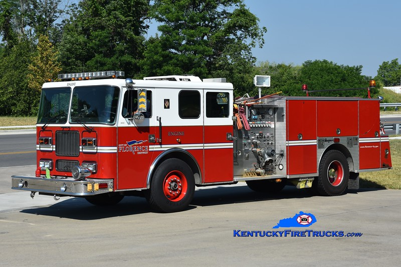 Florence Reserve Engine 34<br /> x-Engine 101 and Engine 104 <br /> 1993 Seagrave Marauder 1500/500<br /> Greg Stapleton photo