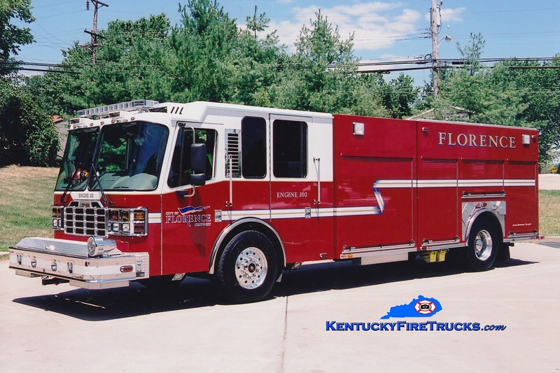 <center> RETIRED <br> Florence  Engine 103 <br> 2006 Ferrara Inferno 1500/500 <br> Greg Stapleton photo </center>
