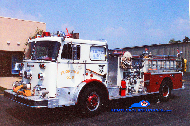 RETIRED<br /> Florence Engine 105<br /> 1969 Seagrave PB 1250/500<br /> Greg Stapleton photo