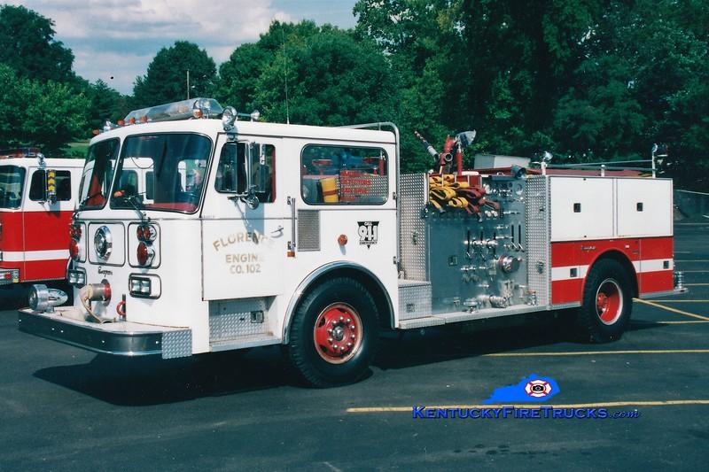 RETIRED <br /> Florence Engine 102 <br /> 1983 Seagrave HB 1250/500 <br /> Greg Stapleton photo