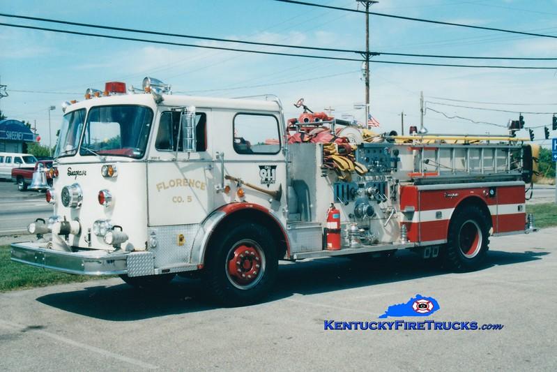 <center> RETIRED  <br> Florence  Engine 105 <br> 1969 Seagrave PB 1250/500 <br> Greg Stapleton photo </center>