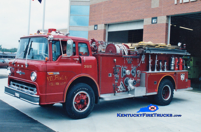 RETIRED<br /> Hebron Engine 355<br /> 1971 Ford C-800/American LaFrance 1250/500<br /> Greg Stapleton photo