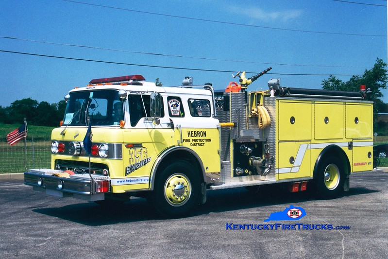 <center> RETIRED <br> Hebron  Engine 356 <br> 1986 Ford C-8000/Pierce 1250/750 <br> Greg Stapleton photo </center>