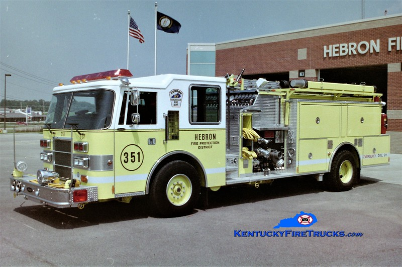 RETIRED<br /> Hebron Engine 351<br /> 1992 Pierce Dash 1500/1000<br /> Greg Stapleton photo