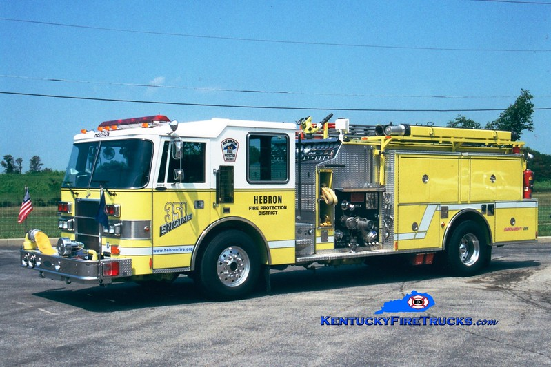 <center> RETIRED <br> Hebron  Engine 356 <br> x-Engine 351 <br> 1992 Pierce Dash 1500/1000 <br> Greg Stapleton photo </center>