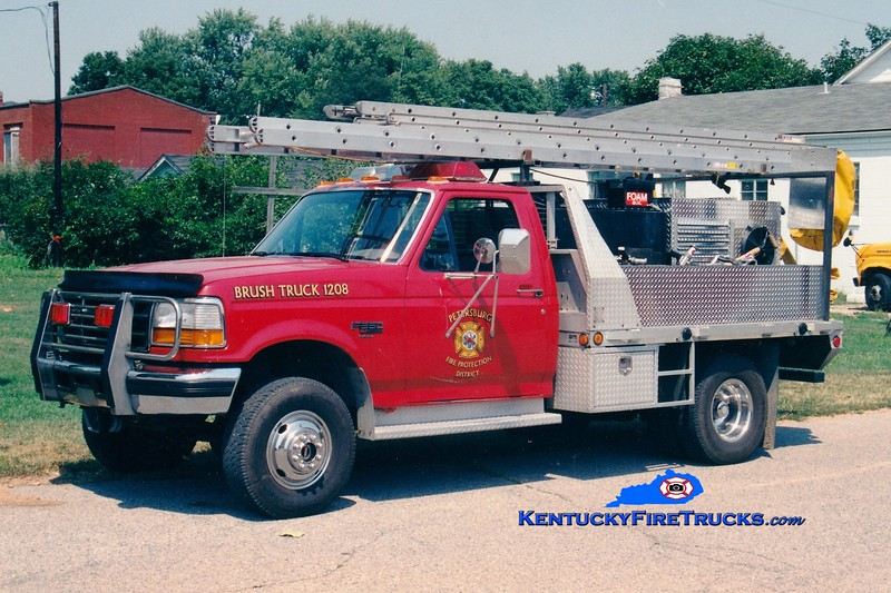 <center> RETIRED <br> Petersburg  Brush 1208 <br> 1994 Ford F-350 4x4/Local 250/250 <br> Greg Stapleton photo </center>