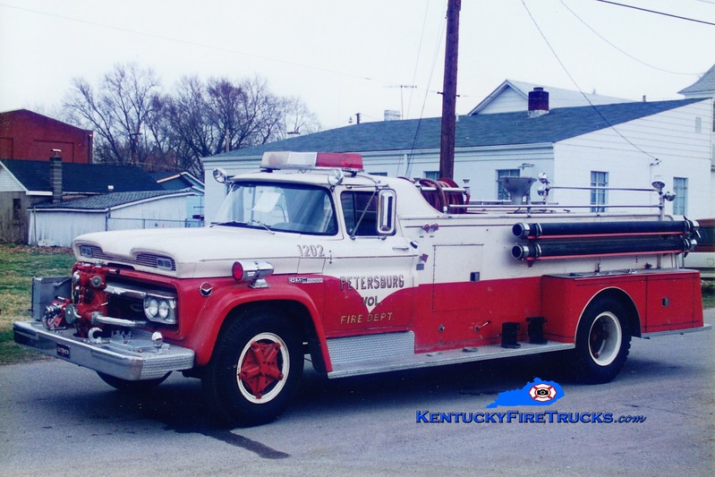 <center> RETIRED <br> Petersburg  Engine 1202 <br> x-Elsmere, KY <br> 1960 GMC/Sutphen 750/350 <br> Greg Stapleton photo </center>