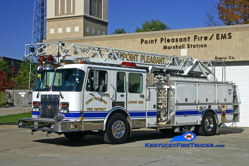 <center> RETIRED <br> Point Pleasant  Ladder 1360 <br> 1993 Spartan Gladiator/Ferrara/RK 1500/500/60'  <br> Kent Parrish photo </center>