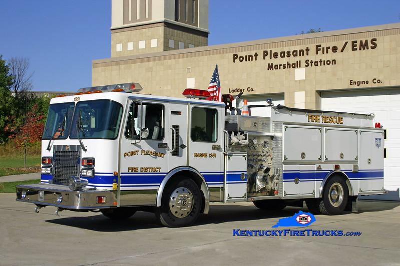<center> RETIRED <br> Point Pleasant  Engine 1361 <br> 1995 Spartan Diamond/Ferrara 1500/500 <br> Kent Parrish photo </center>