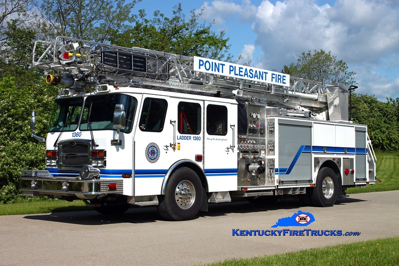 <center> Point Pleasant  Ladder 1360 <br> 2012 E-One Typhoon 1500/450/50/78' <br> Kent Parrish photo </center>