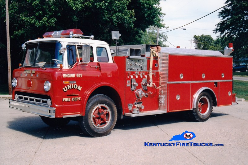 <center> RETIRED <br> Union  Engine 651 <br> 1973 Ford C/Clintonville 1000/750  <br> Greg Stapleton photo </center>