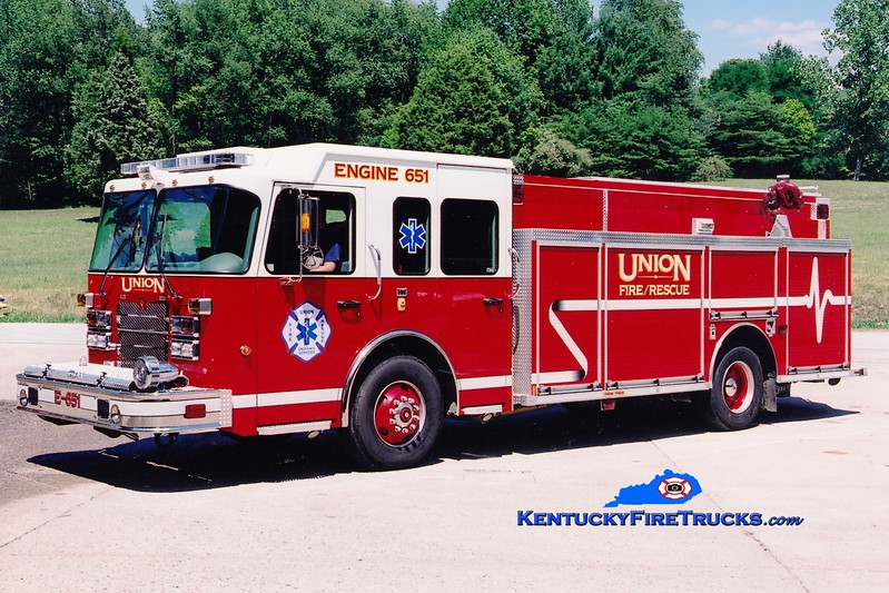 <center> Union  Engine 651 <br> 2007 Spartan Metro Star/Rosenbauer-Central 1500/750  <br> Greg Stapleton photo </center>