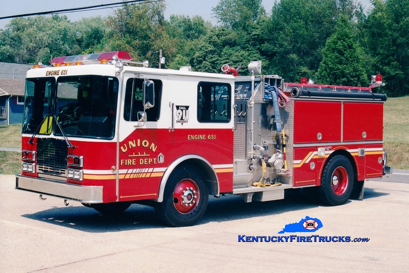 <center> RETIRED <br> Union  Engine 651 <br> 1991 HME/Grumman Panther II 1500/1000  <br> Greg Stapleton photo </center>