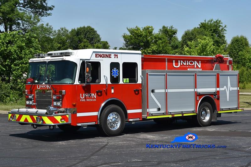 Union Engine 71  <br /> x-Engine 651<br /> 2007 Spartan Metro Star/Rosenbauer-Central 1500/750<br /> Greg Stapleton photo