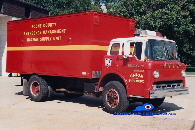 <center> RETIRED <br> Burlington  Truck 673 <br> 1972 Ford C/US Truck <br> Greg Stapleton photo </center>