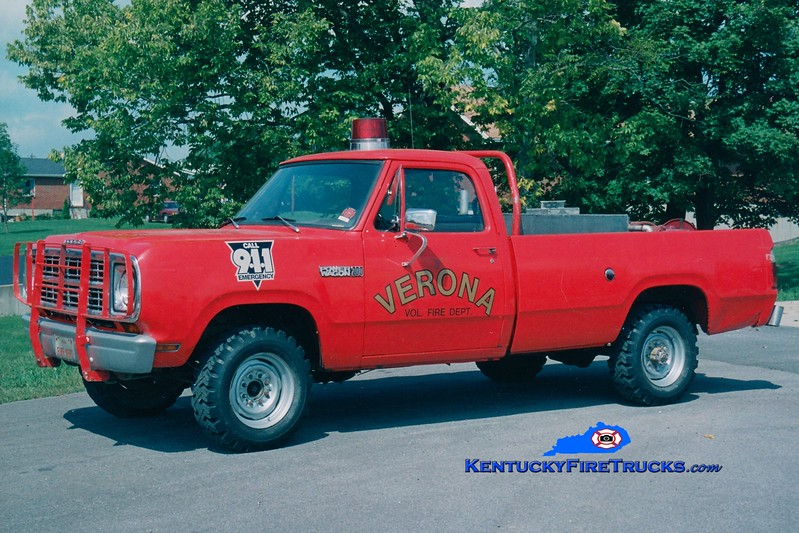 <center> RETIRED <br> Verona  Brush 871 <br> 1976 Dodge 4x4/FD 250/250 <br> Greg Stapleton photo </center>