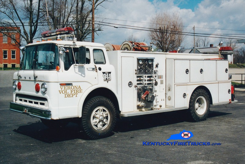 <center> RETIRED <br> Verona  Engine 3 <br> 1979 Ford C/Sutphen 1000/750 <br> Greg Stapleton photo </center>