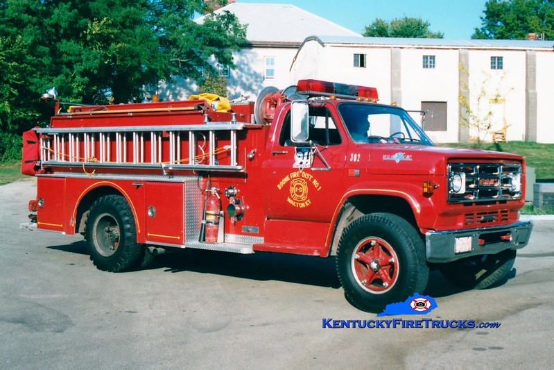 <center> RETIRED  <br> Walton  Engine 302 <br> 1983 GMC/Grumman 750/750  <br> Greg Stapleton photo </center>