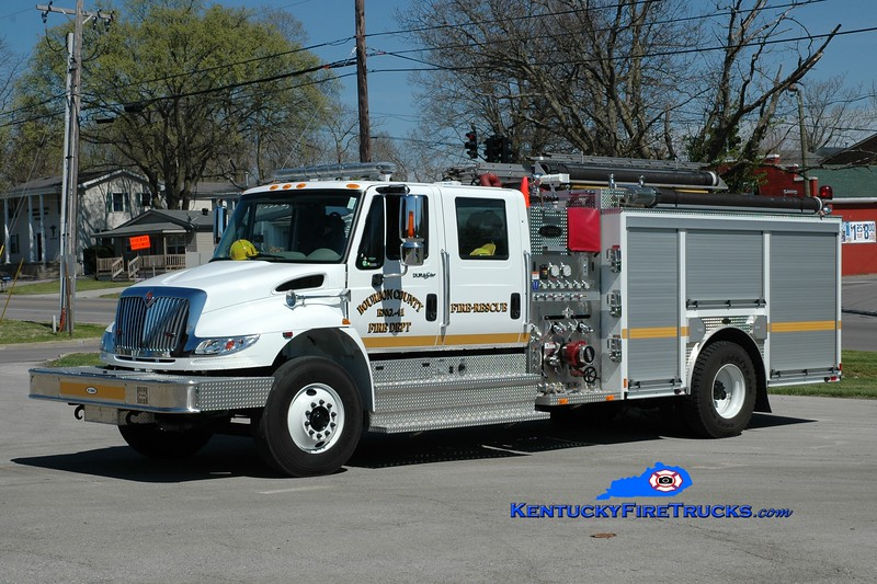 <center> Bourbon County  Engine 41 <br> 2013 International 4400/E-One 1250/1000 <br> Greg Stapleton photo </center>