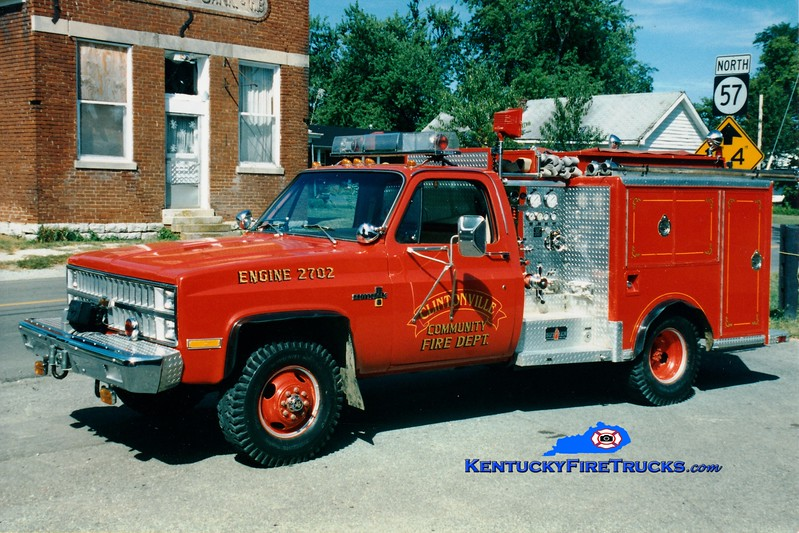 <center> RETIRED <br> Clintonville Engine 2 <br> x-Butler, KY <br> 1982 Chevy 4x4/Sutphen 250/250 <br> Greg Stapleton photo </center>