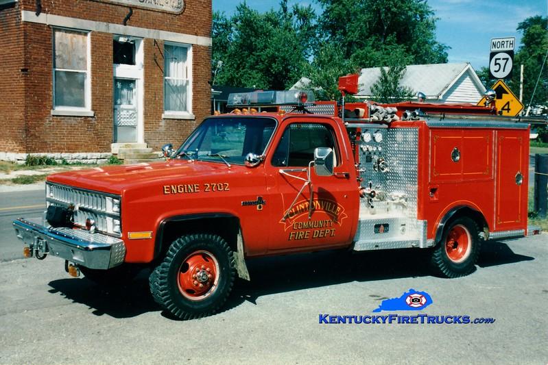 <center> RETIRED <br> Clintonville Engine 2 <br> x-Butler, KY <br> 1982 Chevy 4x4/Sutphen 250/250 <br> Greg Stapleton photo </center>