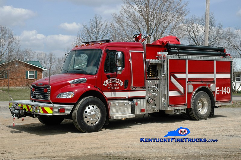 <center> Clintonville Engine 140 <br> 2012 Freightliner M2106/Pierce Responder 1250/1000 <br> Greg Stapleton photo </center>