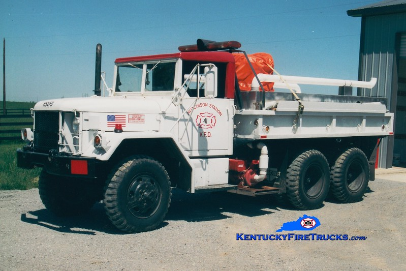 <center> RETIRED <br> Hutchison Station  Tanker 41 <br> x-US Army <br> 1969 Kaiser M35/FD 250/1250 <br> Greg Stapleton photo </center>