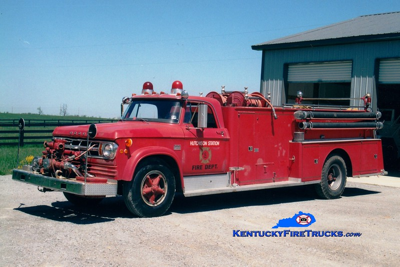 <center> RETIRED <br> Hutchison Station  Engine 42 <br> x-Clark County, KY; Clintonville, KY <br> 1969 Dodge/Sutphen 750/1000 <br> Greg Stapleton photo </center>