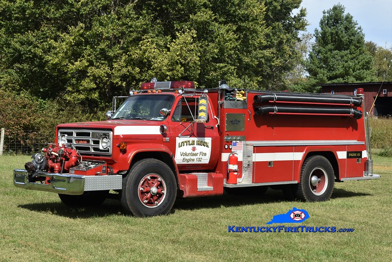 Little Rock  Engine 132<br /> x-Town of Rochester, NY<br /> 1984 GMC 7000/American 750/750<br /> Greg Stapleton photo