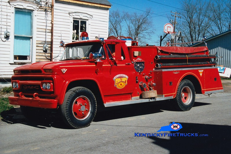 <center> RETIRED <br> Millersburg  Engine 1 <br> 1963 GMC/Central-St. Louis 500/500 <br> Greg Stapleton photo </center>