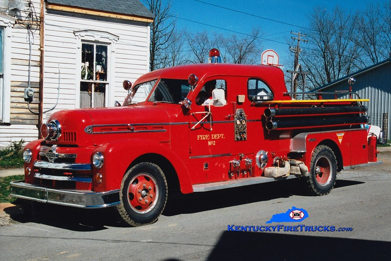<center> RETIRED <br> Millersburg  2  <br> x-Paris, KY   <br> 1956 Seagrave Anniversary Series 750/250 <br> Greg Stapleton photo </center>