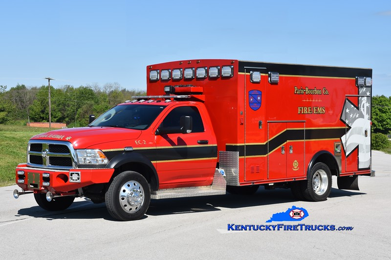 Paris-Bourbon County Emergency Care 2<br /> 2018 Dodge Ram 4500 4x4/Braun<br /> Greg Stapleton photo