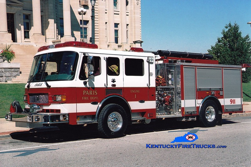 <center> Paris  Engine 1 <br> 2006 American LaFrance Metropolitan 1500/500 <br> Greg Stapleton photo </center>